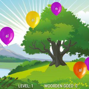 spelling oefenen met Balloonshoot