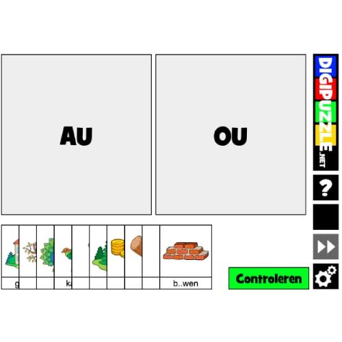 spelling oefenen met Sleeppuzzel au of ou